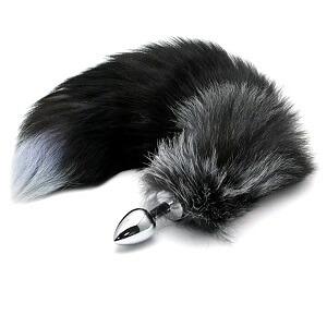 plug cola de zorro negra
